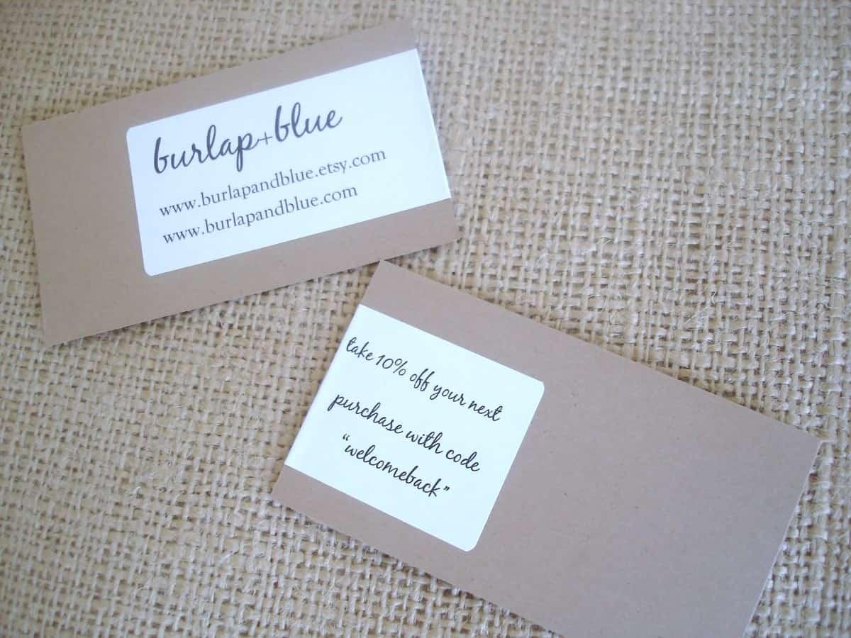 Homemade Business Cards - Slim Image