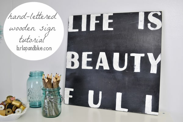 hand lettered sign how to DIY a wooden sign {a tutorial}