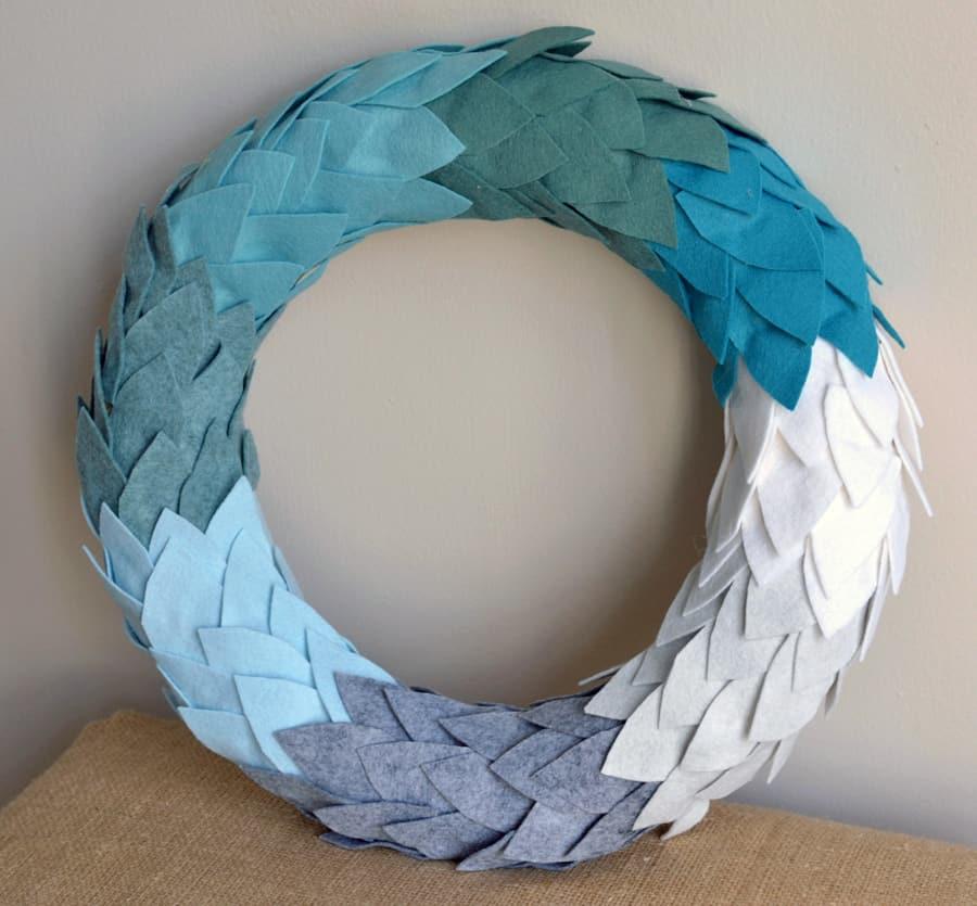 felt ombre wreaths