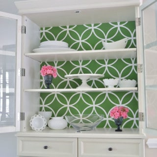stenciled china cabinet {a tutorial}