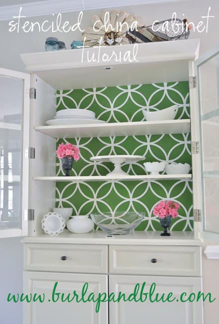 DSC 0001 3 copy stenciled china cabinet {a tutorial}