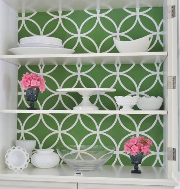 royal design studio stenciled china cabinet