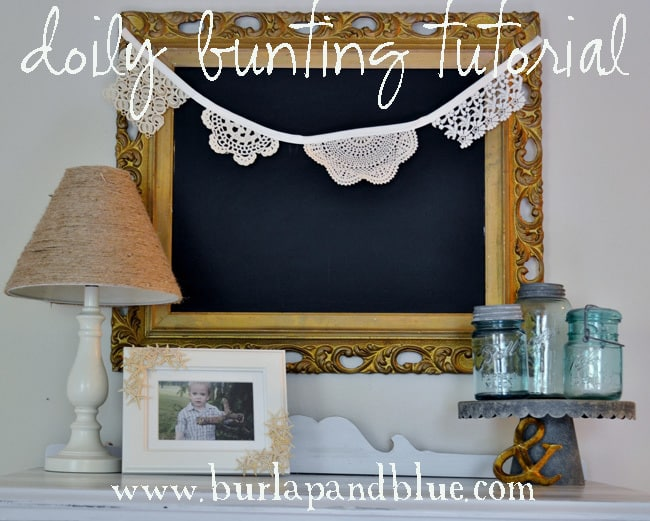 doilybuntingnest lace and doily bunting {a tutorial}