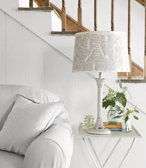 book pages lamp shade north carolina home 0512 xln home tour {diy north carolina home}