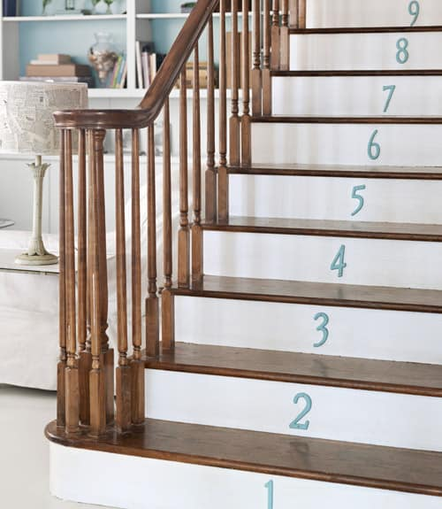 numbered stairs north carolina home 0512 xln home tour {diy north carolina home}