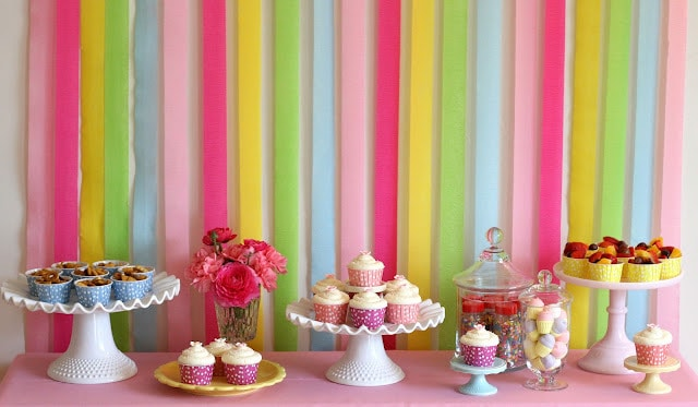 rainbow birthday food and desserts 25 favorite crepe paper tutorials