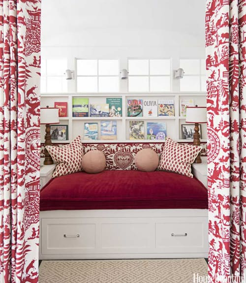hbx built in bed red curtains staircase landing ann wolf 0712smallrooms06 xln home inspiration {cozy nooks}
