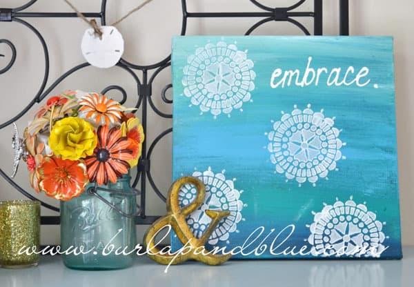 Blue Canvas Art Diy: DIY Crafts