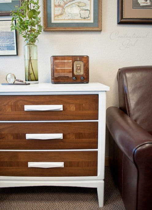 White stained wood