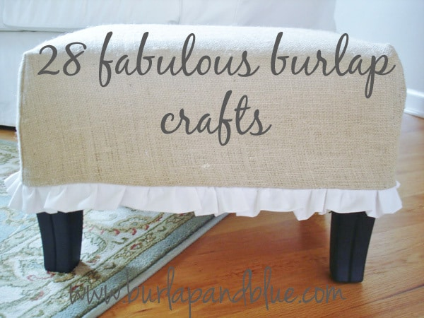 burlap crafts ideas by burlap+blue