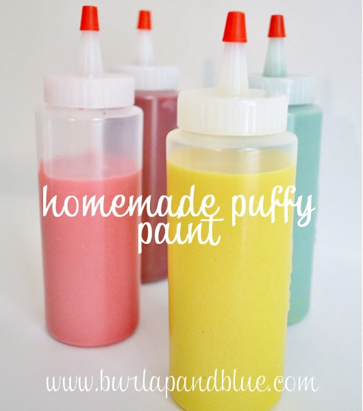 Blue Puffy Paint Puffy Paint Recipe Here