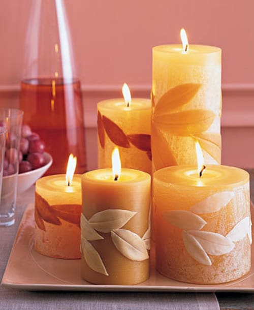candles favorite fall craft ideas