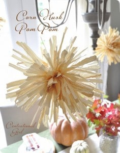 corn husk pompom cg 236x300 50 favorite fall crafts