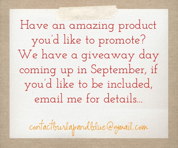 giveaway day happy {long} weekend!