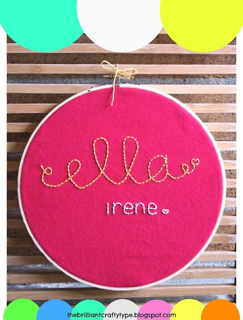 embroidery hoop name art tutorial