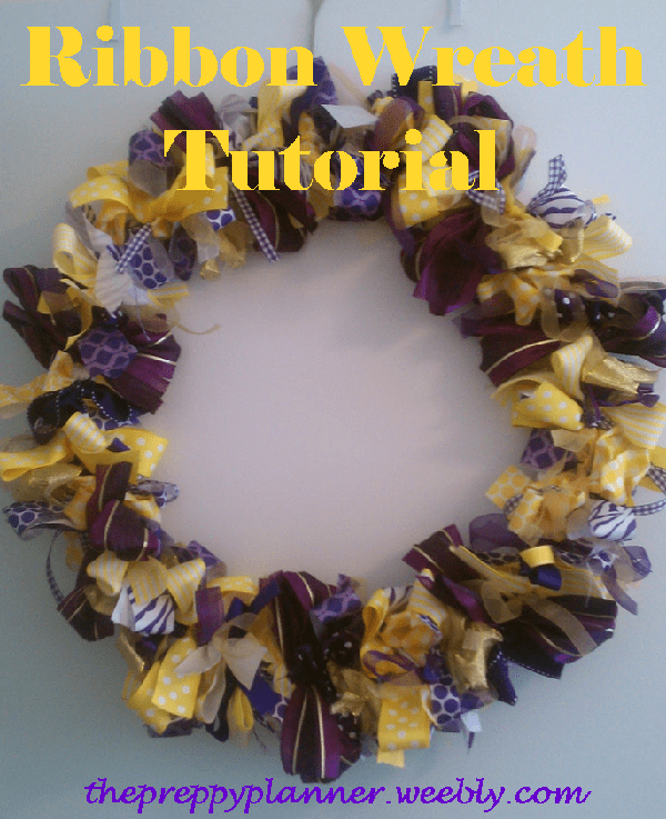 picture1 Ribbon Wreath {A Tutorial}