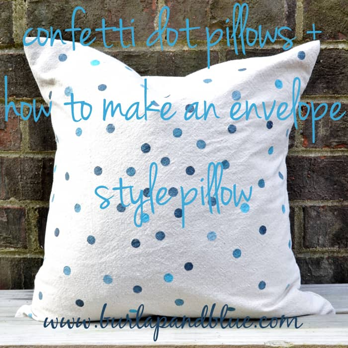 DSC 0052 copy confetti dots pillow+how to make an envelope pillow cover {inspired by pinterest}