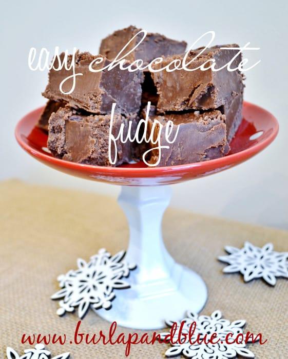 easy chocolate fudge by burlap+blue