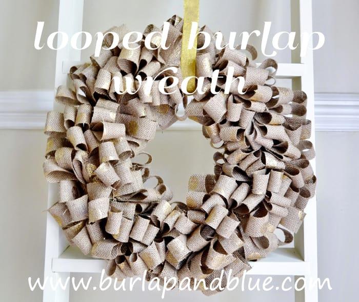 christmas burlap wreath by burlap+blue
