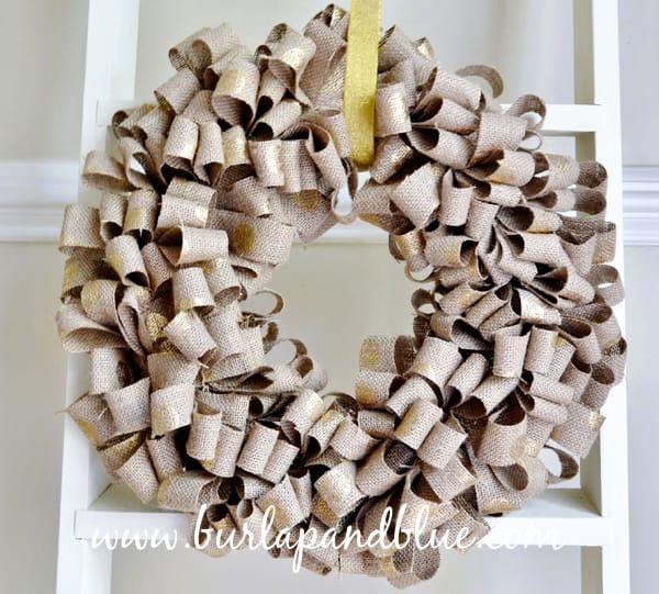 holiday burlap wreath {a tutorial}