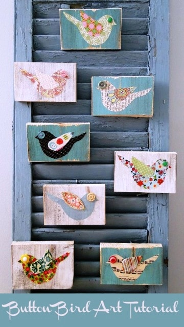 Tutorial bird plaque favorite finds {home decor and crafts}
