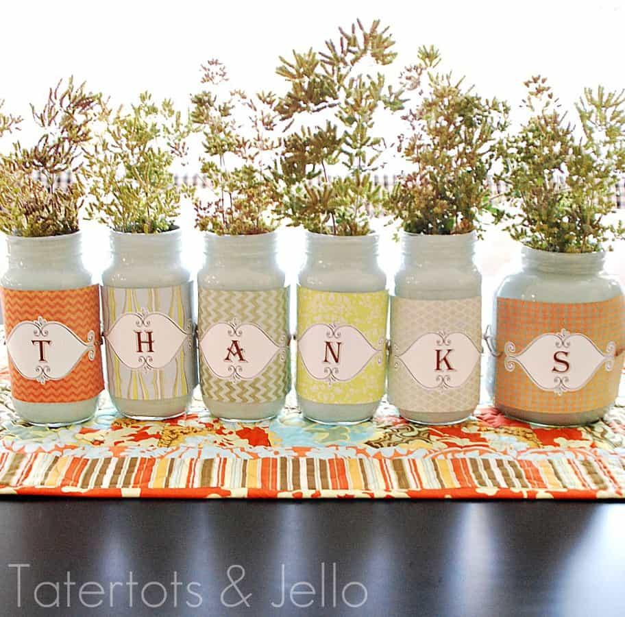 thanks jars header 20 creative thanksgiving tutorials and crafts