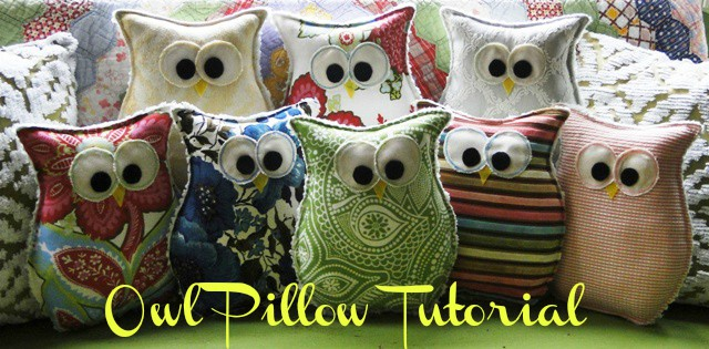 tutorial owl pillows favorite finds {home decor and crafts}