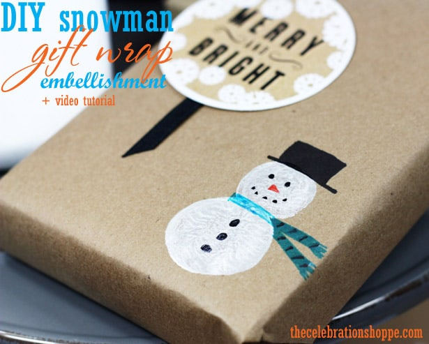 1 Snowman Gift Wrap Craft 50 favorite christmas crafts