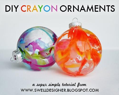 DIY crayon ornaments opener 50 favorite christmas crafts
