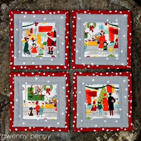 Gwenny Penny Fussy Cut Quilted Christmas Coasters 5 50 favorite christmas crafts