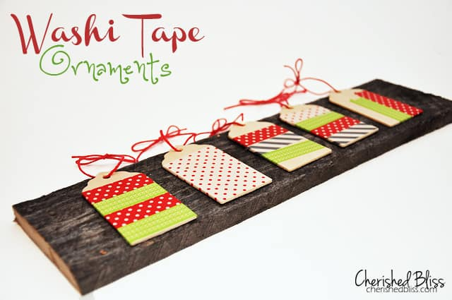 Washi Tape Ornaments 50 favorite christmas crafts