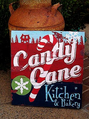 candy cane sign 50 favorite christmas crafts