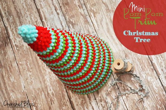mini pom pom trim tree 50 favorite christmas crafts