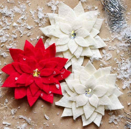 poinsettia pins 50 favorite christmas crafts