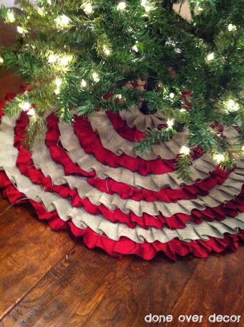 ruffle rug1 50 favorite christmas crafts