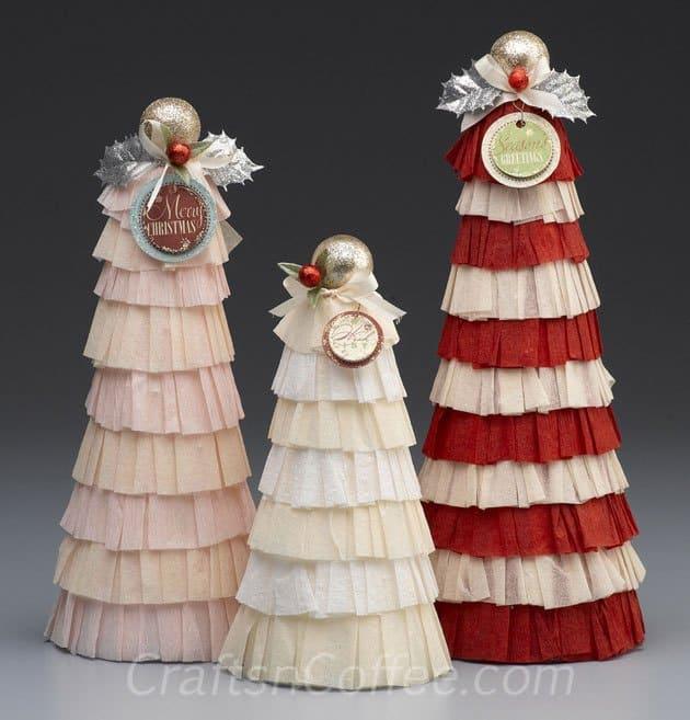 vintage crepe paper topiari 50 favorite christmas crafts