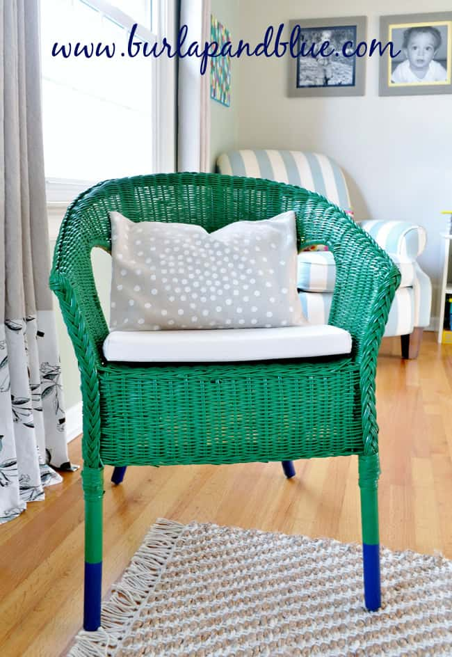 dipped chair 2 ikea wicker chair makeover