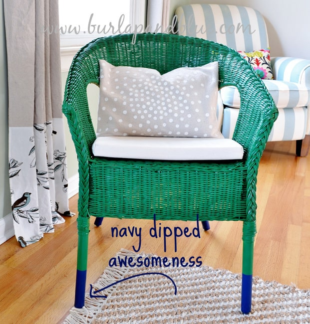 dipped chair copy ikea wicker chair makeover