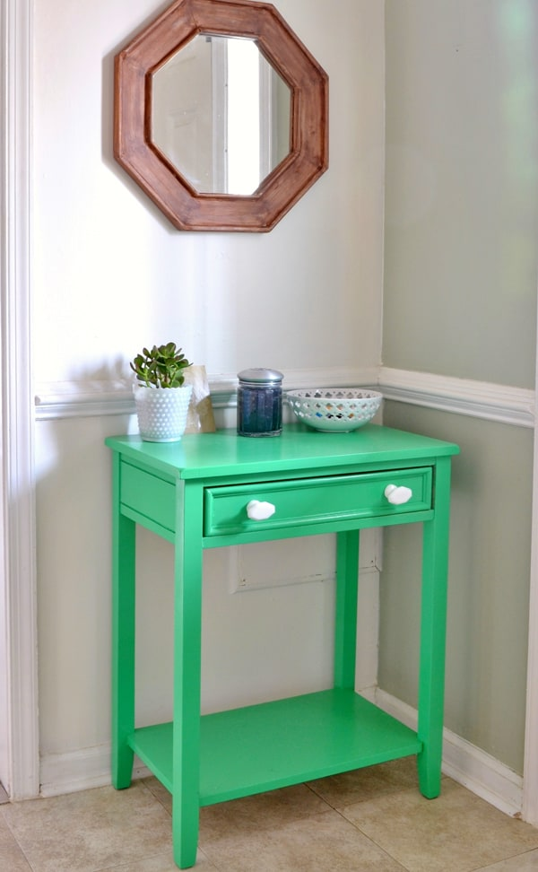 foyer table home tour