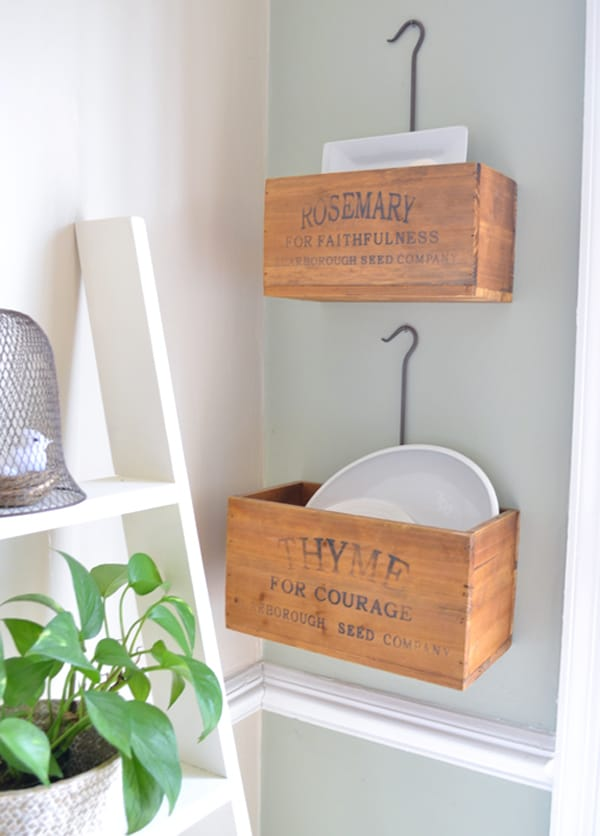 herb crates1 home tour