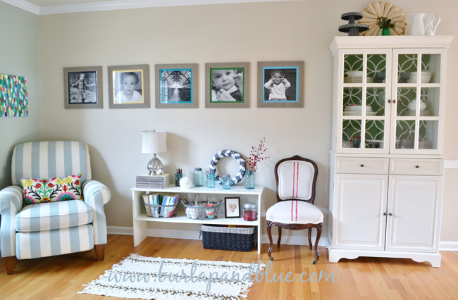 Living room redo by burlap blue - How to redo a living room under 100 ...