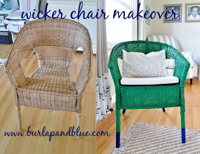 wicker chair makeover ikea wicker chair makeover