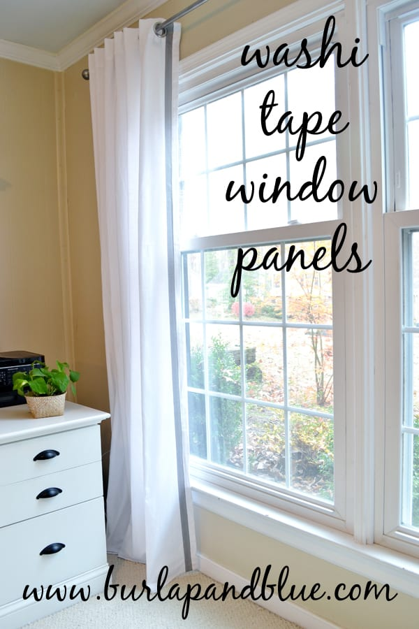 washi tape window panels