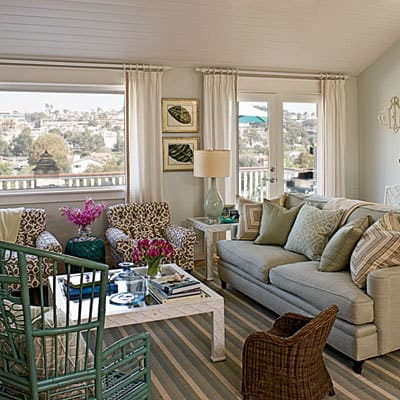 Coastal rooms - Green and blue living room pictures ...
