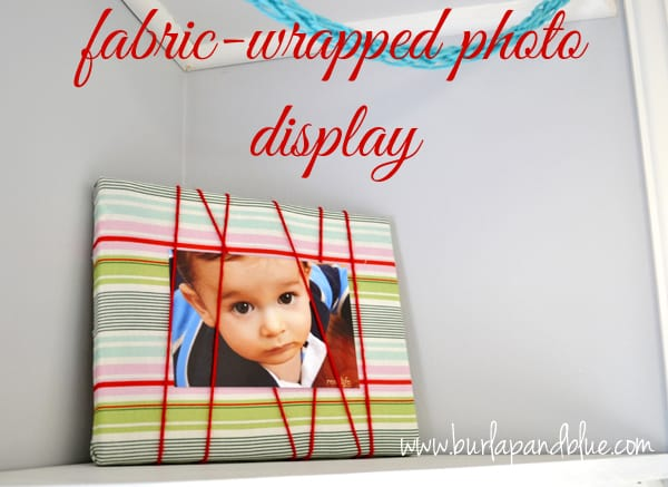 fabric wrapped photo display