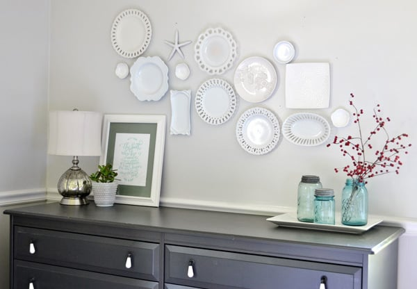 plate wall 3 white plate wall + the cheaters way of hanging plates