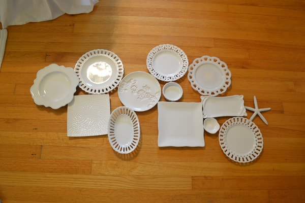 plate wall white plate wall + the cheaters way of hanging plates