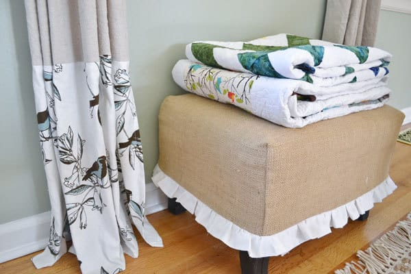 quilts ottoman the dropcloth window treatment (re)post