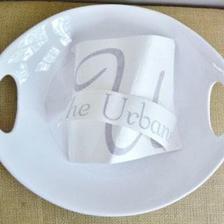 personalized gift idea-vinyl ceramic platter {a tutorial}