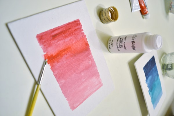 abstract watercolor canvas